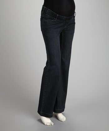 Denim Under-Belly Maternity Wide-Leg Jeans