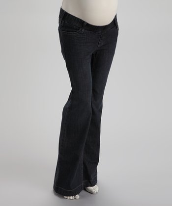 Under-Belly Maternity Wide-Leg Jeans