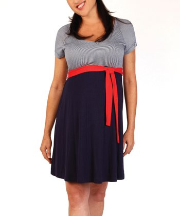 Japanese Weekend Navy Maternity & Nursing Sailor Dress
