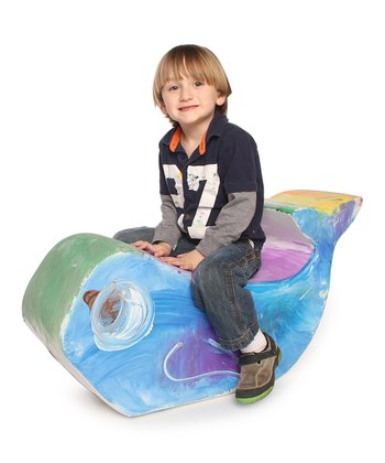 White Jr. Paintable Whale Rocker
