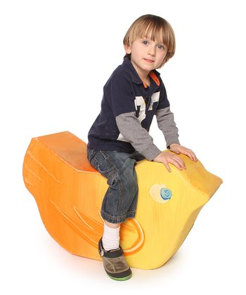 White Jr. Paintable Duck Rocker