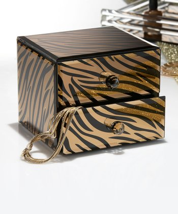 Tiger Mirror 5.5'' Jewelry Box