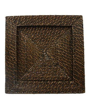 Rattan Square Charger Plate - Set of Four