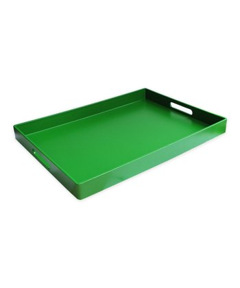 Green Rectangular Tray