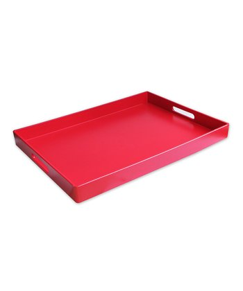 Red Rectangular Tray