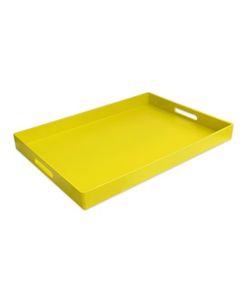 Yellow Rectangular Tray