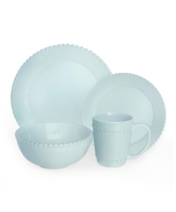 Azul Bianca Bead 16-Piece Dinnerware Set