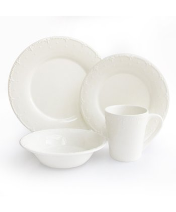 White Genevieve Dinnerware Set