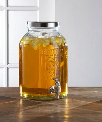 Glass 1.74-Gal. Beverage Dispenser