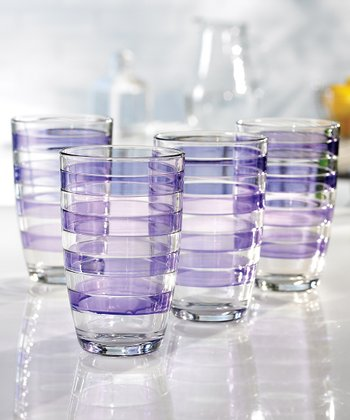 Purple 16-Oz. Glass - Set of Four