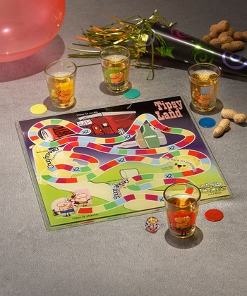 Tipsyland Shot Glass Board Game Set