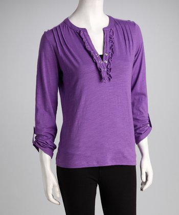 Purple Ruffle Top