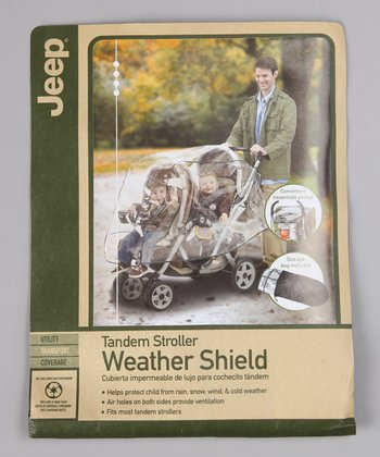 Jeep Clear Tandem Stroller Weather Shield