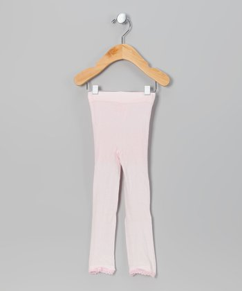 Pink Daisy Lace Footless Tights - Infant, Toddler & Girls