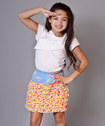 Periwinkle Umbrella Karen Tee & Skirt - Girls
