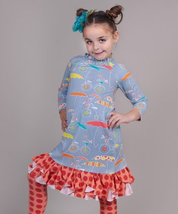 Periwinkle Umbrella Chloe Tunic - Girls
