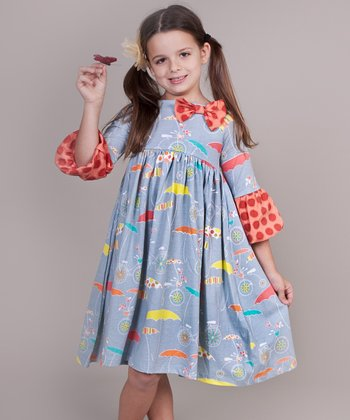 Periwinkle Umbrella Ashley Dress - Infant & Girls