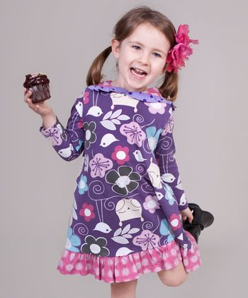 Pink & Purple Owls Sophie Dress - Toddler & Girls