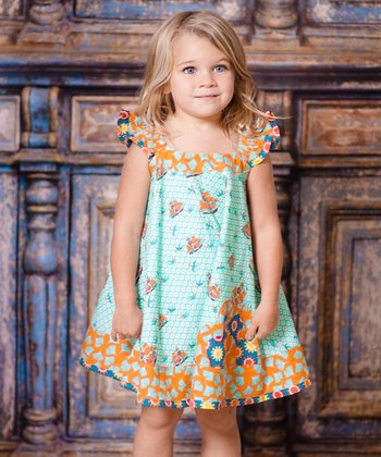 Aqua Sailboat Swing Dress - Infant & Girls