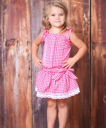 Teaberry Gingham Country Fair Dress - Toddler