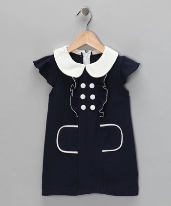 Navy Sailor Dress - Toddler