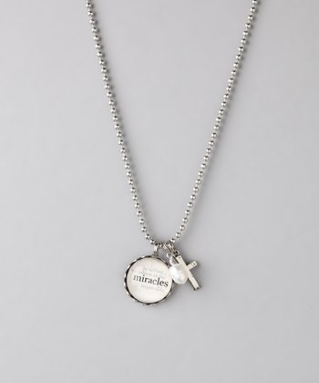 Silver 'Miracles' Story Necklace