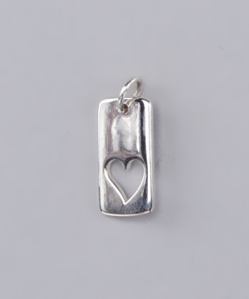 Jenny Present Sterling Silver Heart Cut-Out Charm