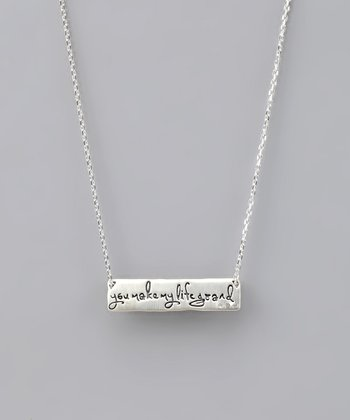 Sterling Silver 'You Make My Life Grand' LifeNotes Necklace