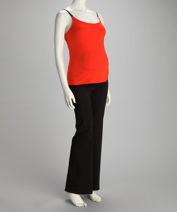 Orange Maternity Tank & Yoga Pants
