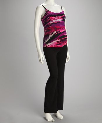 Purple Swirl Maternity Tank & Yoga Pants