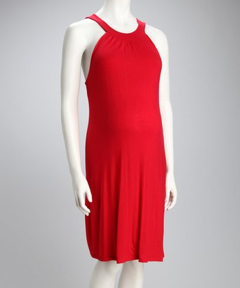 Red Maternity Sundress
