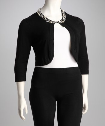 Black Pearl Plus-Size Shrug