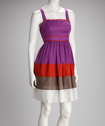 Jessica Simpson Berry Color Block Dress