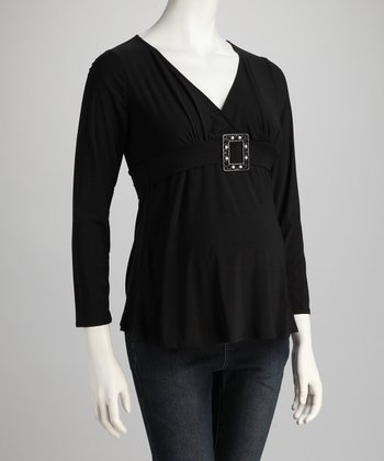 Black & Pearl Leonardo Maternity Top