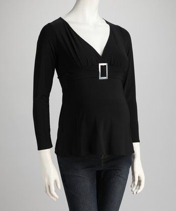 Black & Silver Leonardo Maternity Top