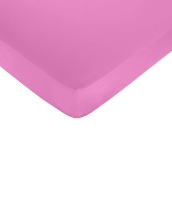 JoJo Designs Dark Pink Garden Fitted Crib Sheet