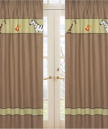 JoJo Designs Jungle Adventure Curtain 2-Piece Set