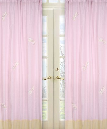 JoJo Designs Pink Dragonfly Dreams Curtain 2-Piece Set