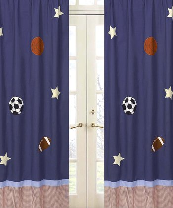 JoJo Designs Play Ball Curtain 2-Piece Set