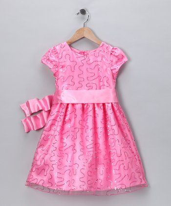 Pink Sequin Ashley Dress - Toddler & Girls