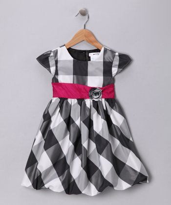 Gray & Pink Dakota Dress - Toddler & Girls