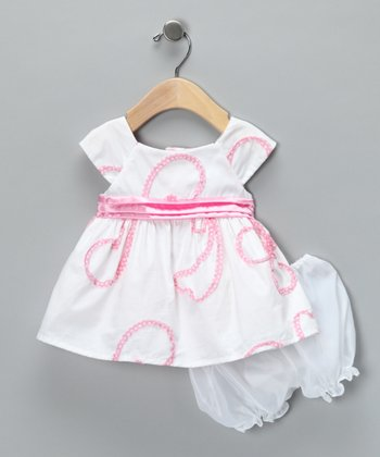 White Lulu Dress & Bloomers - Infant