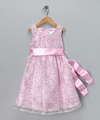 Pink Sparkle Princess Dress - Girls