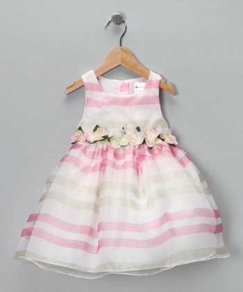 Ivory & Pink Victoria Dress - Infant & Toddler