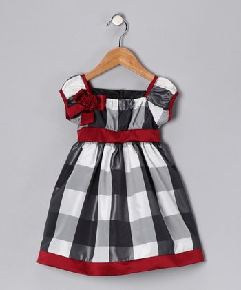 Gray & White Winnie Dress - Toddler & Girls