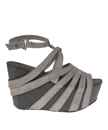 Gray Briggs Platform Wedge Sandal