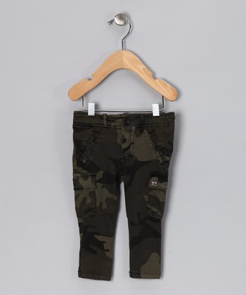 Green Camouflage Cargo Pants - Infant