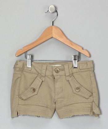 Khaki Cargo Shorts - Girls