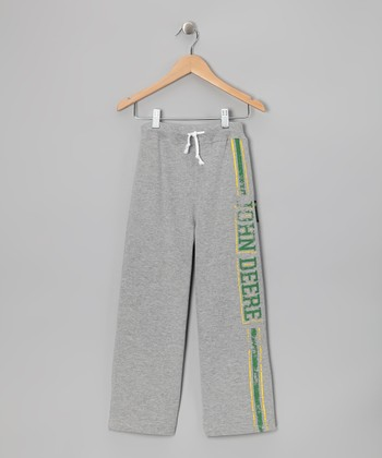 New York-Designed Gray 'John Deere' Sweatpants - Boys