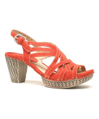 Red Julia 01 Suede Sandal